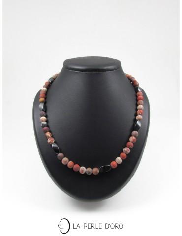 Red Jasper, short necklace,...