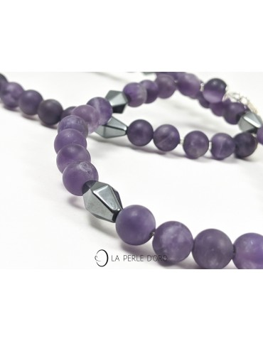 Amethyst, short necklace,...