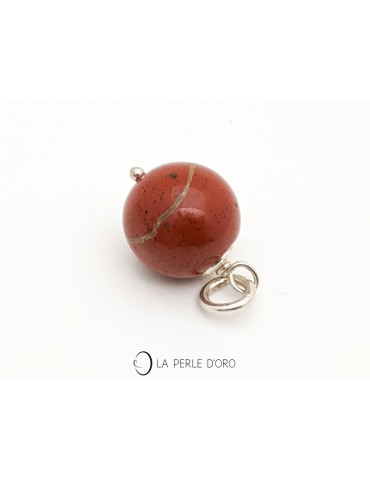 Red jasper, key ring