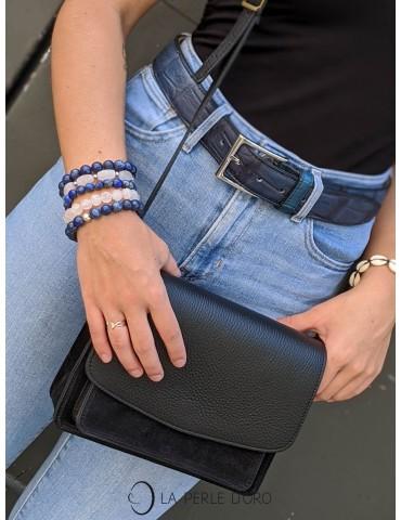 Paloma, leather bag, black