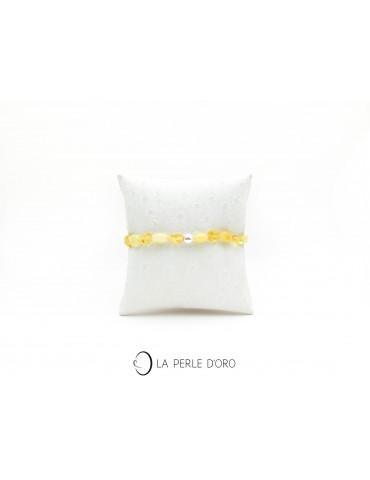 Ambre jaune et or, Bracelet...