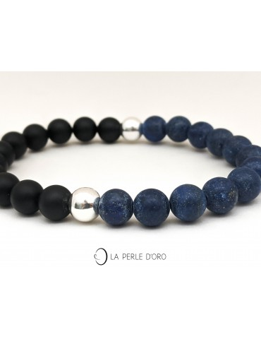 Lapis lazuli mat et Agate...