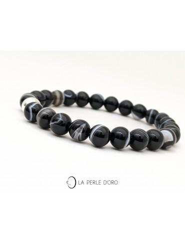 Black agate Bracelet,...
