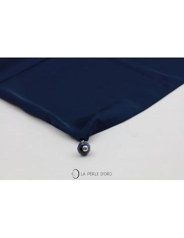 Foulard carré, bleu marine