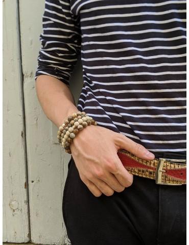 Snake skin leather belt