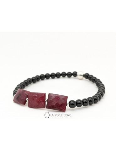 Rubis sur Onyx, Bracelet...
