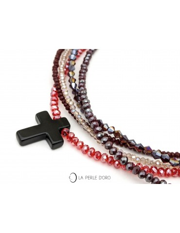 Onyx cross on Bohemian...