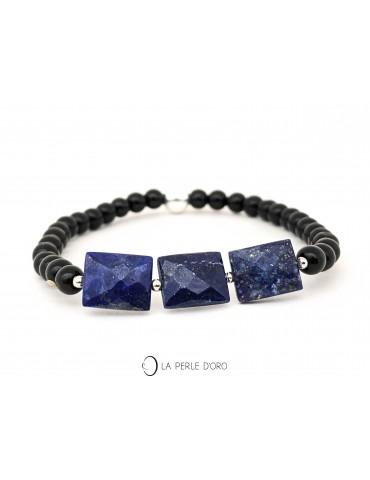 Lapis Lazuli sur Onyx 4mm,...