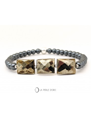 Pyrite bracelet, Gems...