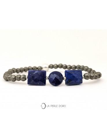 Lapis Lazuli sur Pyrite,...