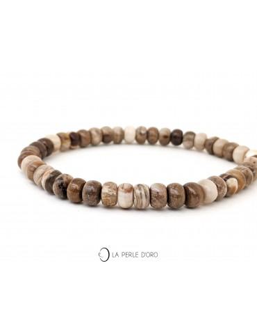 Bois fossilisé, Bracelet...