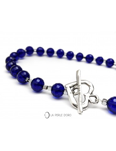 Cristal de Bohème, bleu...