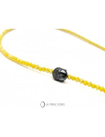 Short Necklace, Artist Collection, Indonesian Haematite Bouddha