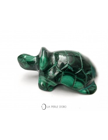 Malachite, tortue 5,5cm...