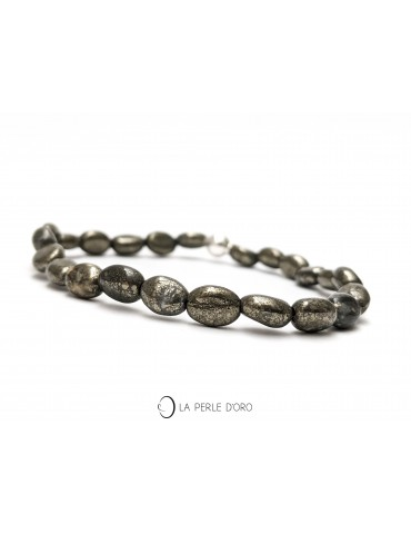 Pyrite keshi 6mm, Bracelet...