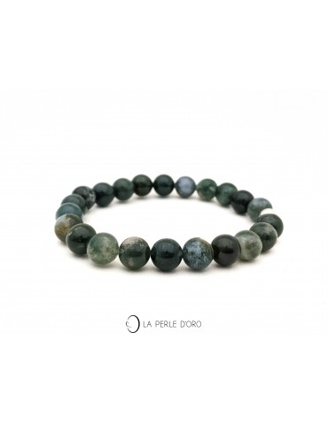 Agate Mousse 8mm, Bracelet...