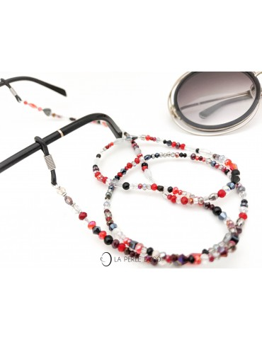 Cordon à lunettes rouge,...