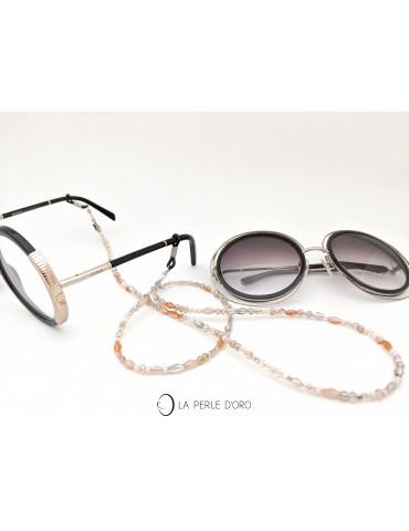 Cordon à lunettes beige,...