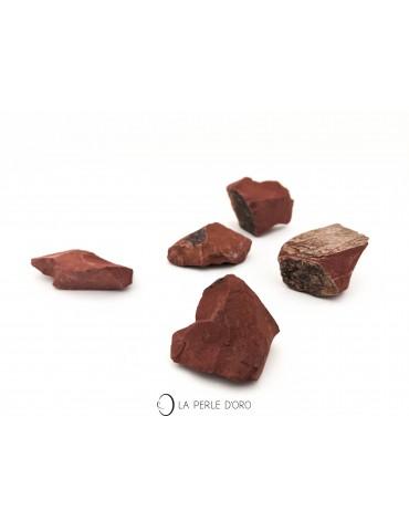 Jaspe rouge brut, morceaux...