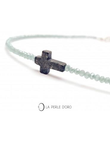 Pyrite, croix sur Cristal...