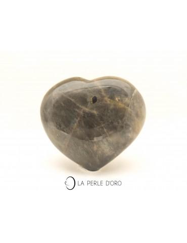 Pierre de lune, coeur 9cm...