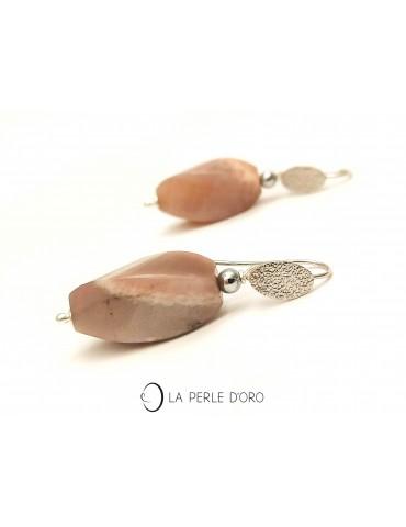 Moon stone silver earings