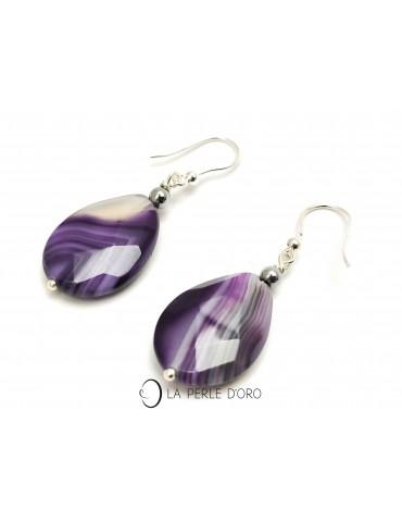 Agate crazy violette,...