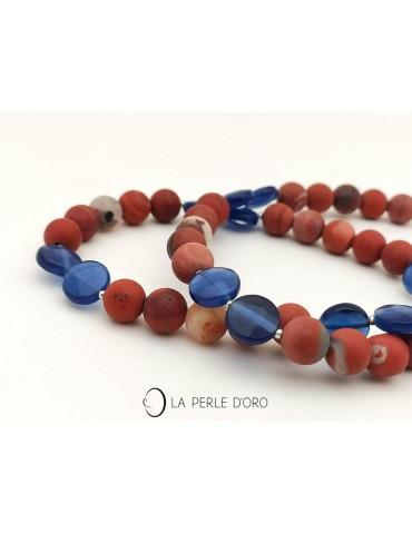 Red jasper short necklace