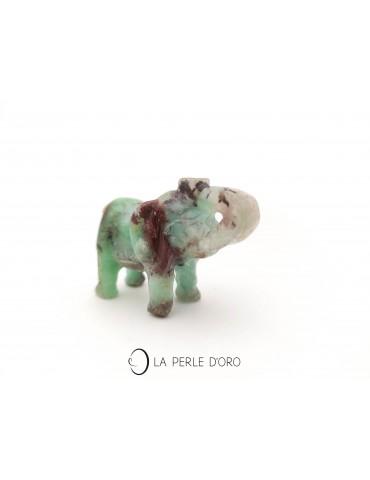 Chrysoprase vert, éléphant