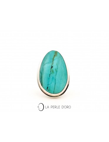 Chrysocolle silver ring