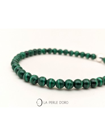 Malachite 4mm, perles...