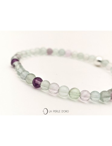 Fluorite 4mm, perles...