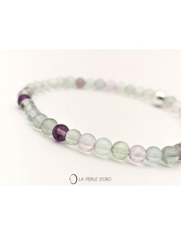 Fluorite bracelet, Delicate...