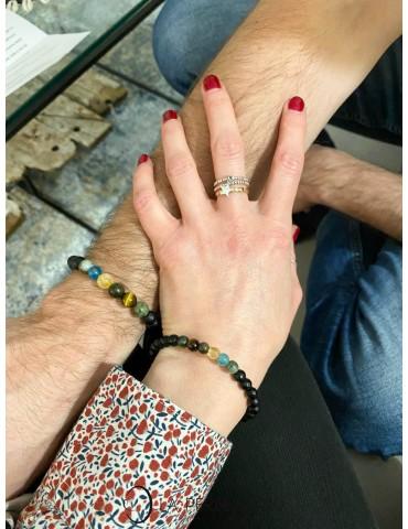 Gauche : Lien d'Amour 8mm - Droite : Lien d'Amour 6mm