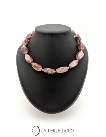 Short necklace, moon stone,...