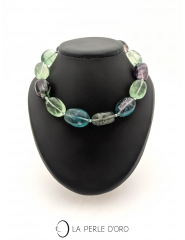 Fluorite, short necklace,...
