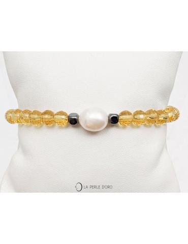 Perle blanche naturelle sur...