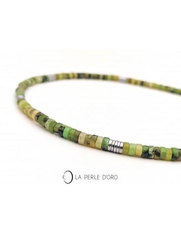 Jade short necklace, Surf...