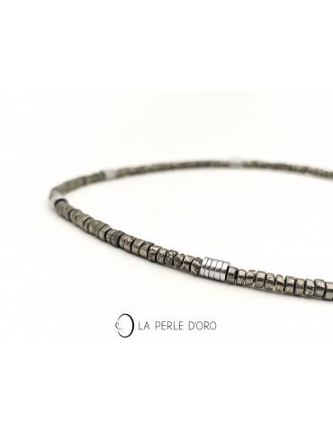 Pyrite short necklace, Surf...