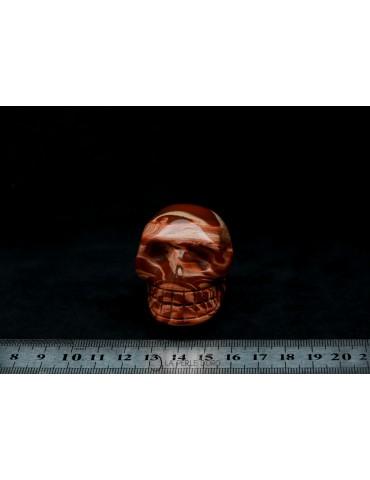 Jaspe rouge, Crâne 5cm...