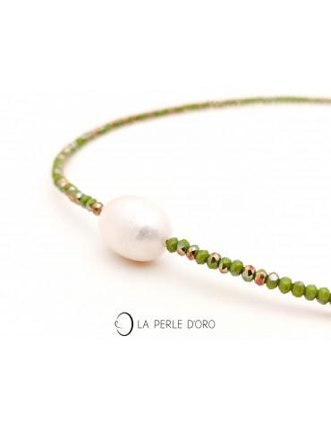 Perle naturelle blanche sur...