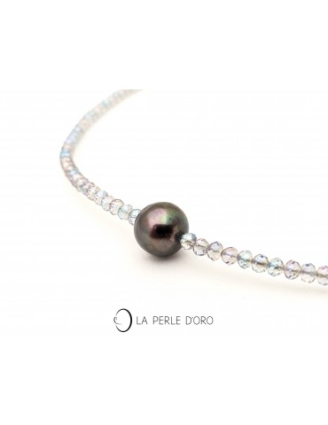 Perle naturelle grise sur...