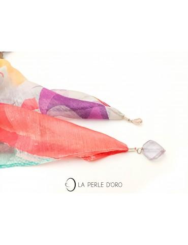 Étole multicolore