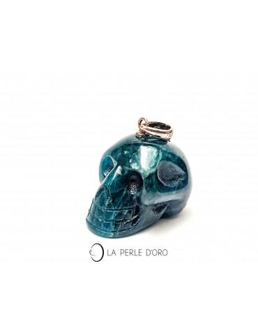 Apatite, skull pendant