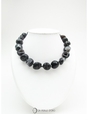 Black Agate short necklace,...