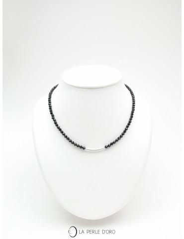Spinelle, Ras de cou, Collection Délicatesse, Tige Argent 925