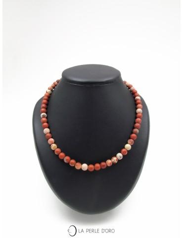Red jasper short necklace,...