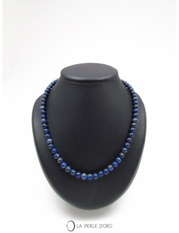 Short necklace, Lapis...
