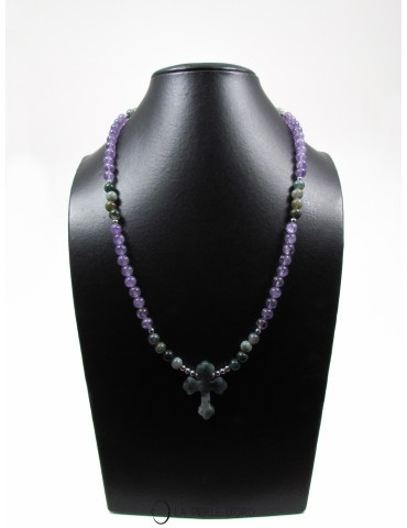 Long necklace, amethyst and...