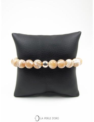 Bracelet en Nacre beige...